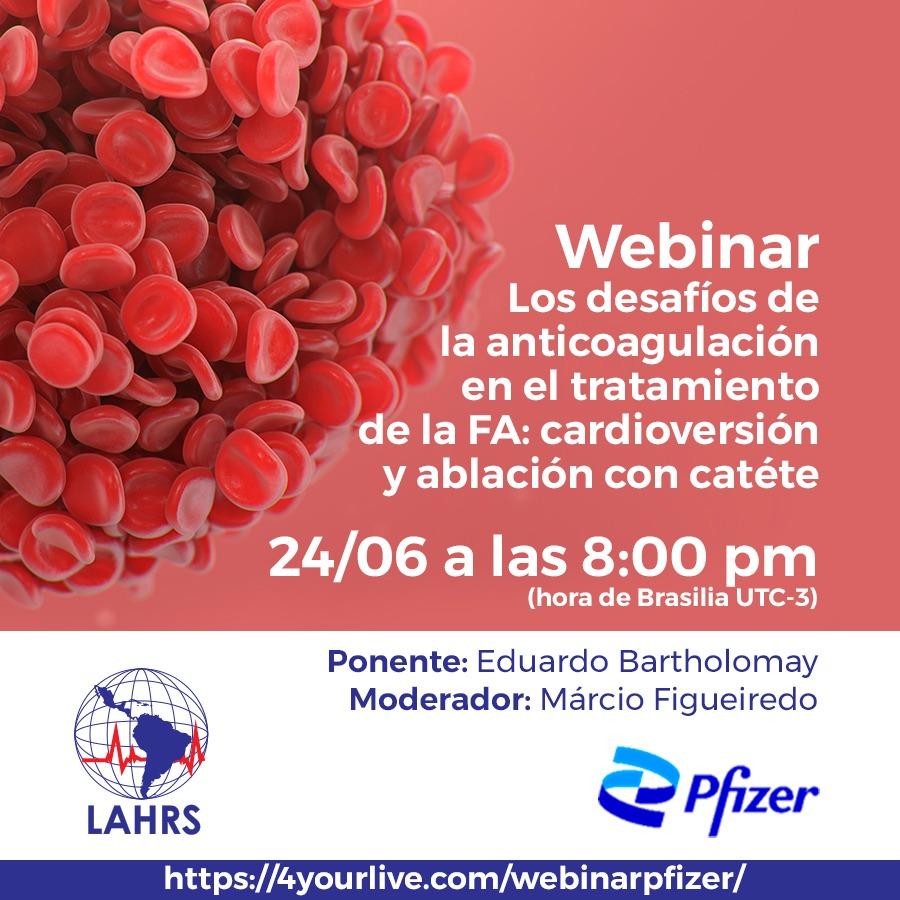 Webinar: Los desafíos de la anticoagulación en el tratamiento de la FA: cardioversión y ablación con catéter